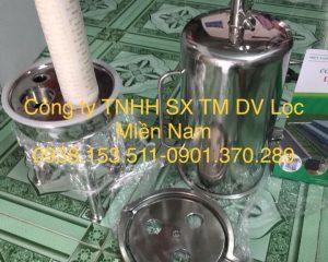 bình lọc 3 lõi 20 inch oring 226 với chất liệu inox 316