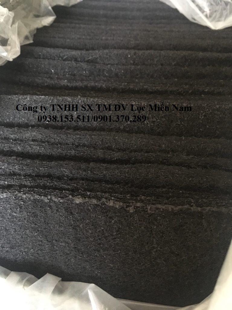 Tấm nỉ carbon dùng trong lọc khí nhà bếp