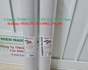 Lõi lọc than hoạt tính maxtec 20 inch lọc nước bể xi mạ