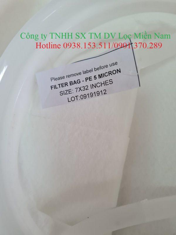 Túi lọc PE size 2 5 micron