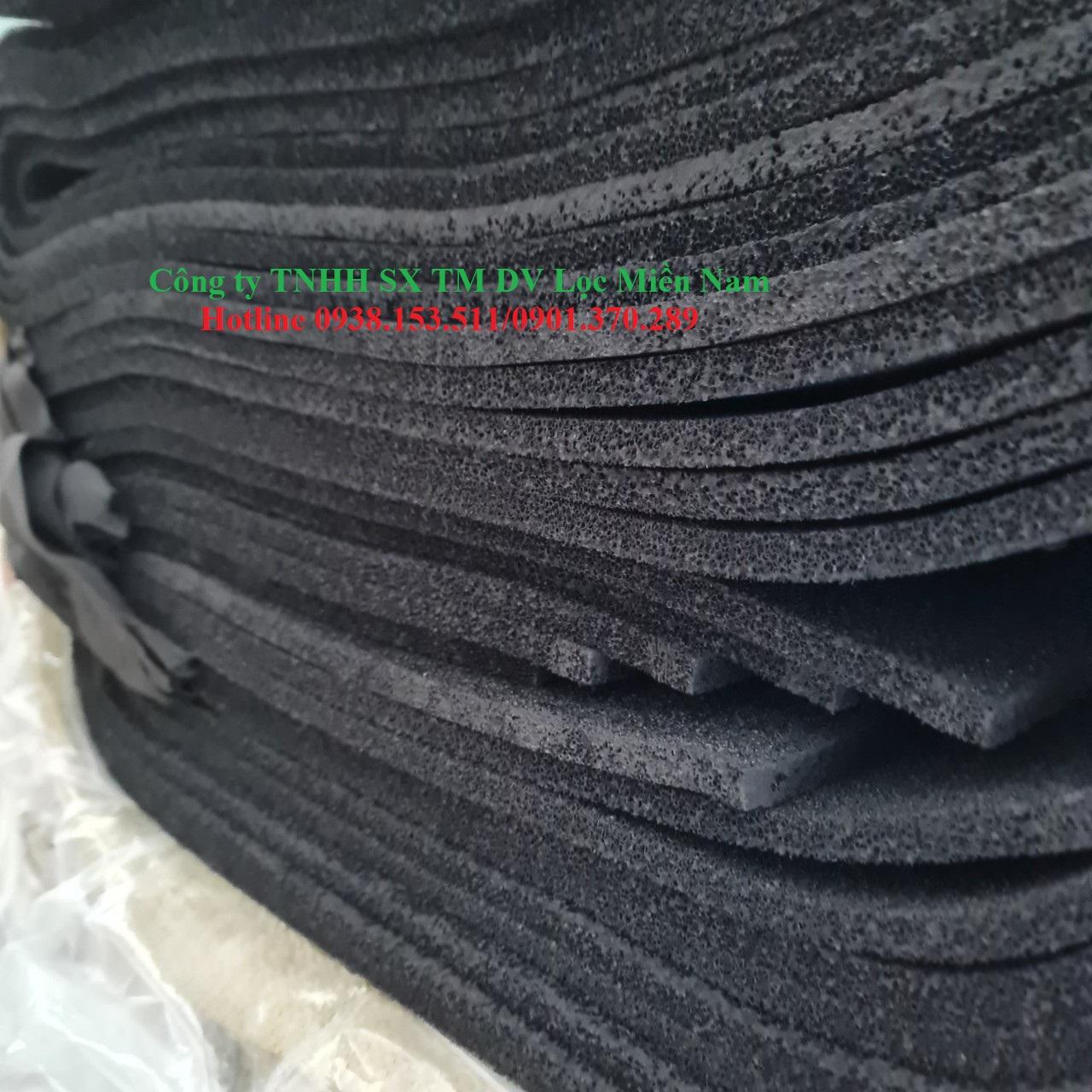 Tấm than hoạt tính 10mm dùng cho lọc phòng sạch