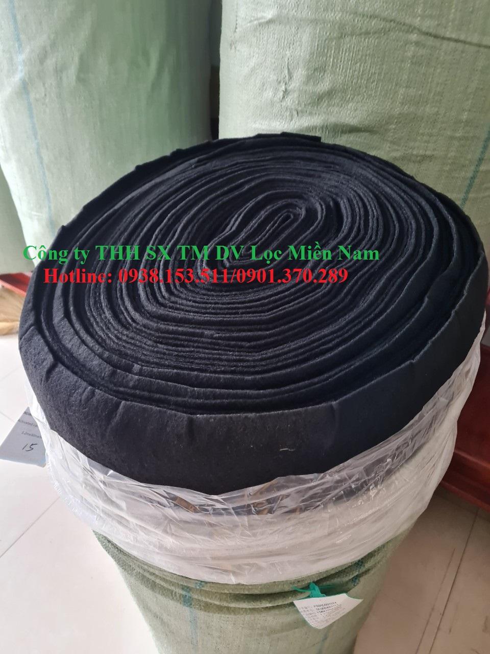 Cuộn bông than hoạt tính dày 5mm khổ 1.2mx50m